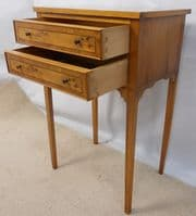 Yew Side Table in the Antique Georgian Style - SOLD